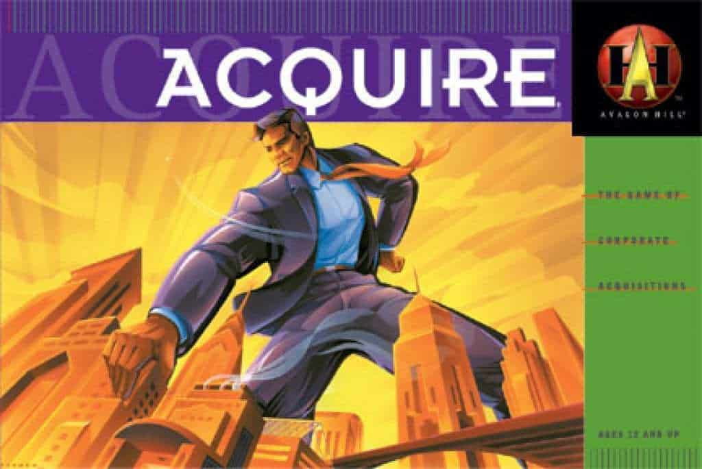 Acquire - best board games for geeks - the geek street