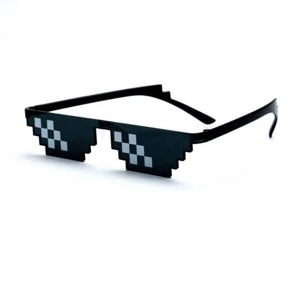 8 bit pixel sunglasses - glasses for geeks - pixel glasses - gifts for geeks