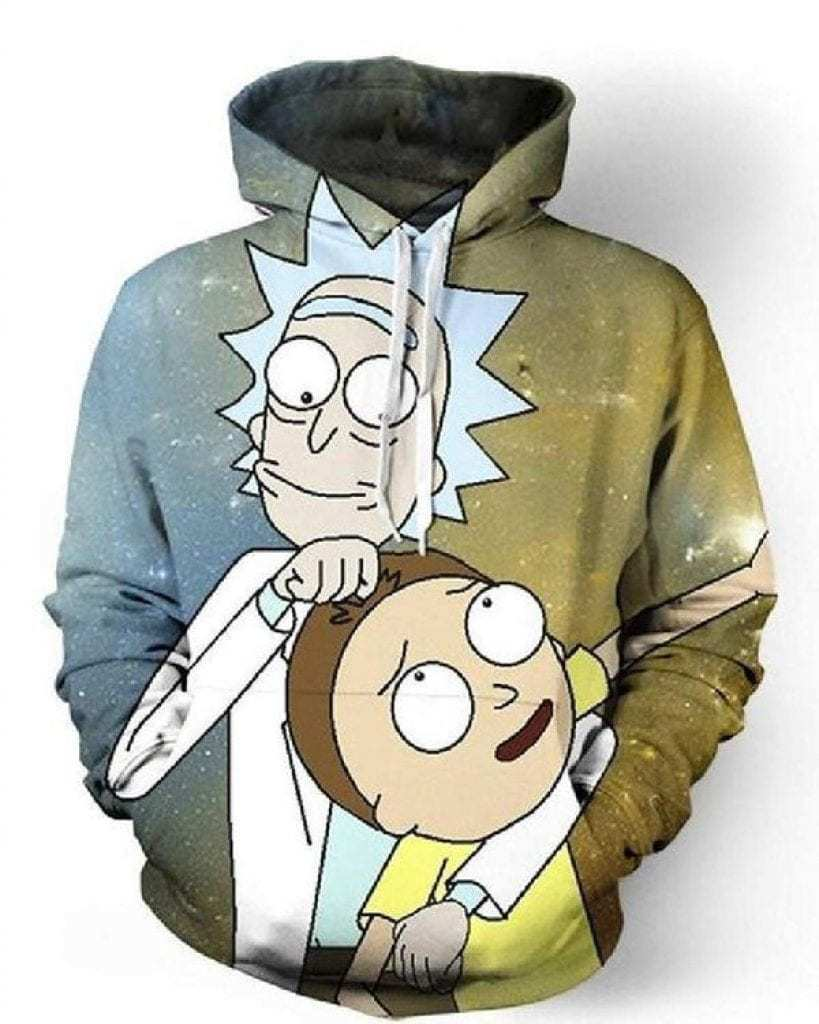 Rick and Morty merchandise - Rick and Morty hooded sweatshirt